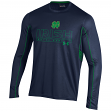 Notre Dame Fighting Irish Under Armour NCAA Performance L/S Shirt - Navy/Green
