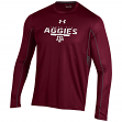 "Texas A&M Aggies Under Armour NCAA ""Post Route"" Performance L/S Shirt"