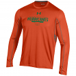 "Miami Hurricanes Under Armour NCAA ""Post Route"" Performance L/S Shirt"