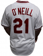 Paul O'Neill Cincinnati Reds Majestic MLB Cooperstown Cool Base White Jersey