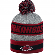 "Arkansas Razorbacks NCAA Top of the World ""Cumulus"" Striped Cuffed Knit Hat"