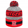 "Rutgers Scarlet Knights NCAA Top of the World ""Cumulus"" Striped Cuffed Knit Hat"