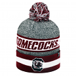 """South Carolina Gamecocks NCAA Top of the World """"Cumulus"""" Striped Cuffed Knit Hat"""