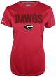 "Georgia Bulldogs Women's Majestic NCAA ""Invincible"" S/S Performance Shirt"