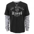 """Los Angeles Kings Youth NHL Reebok """"Arched Fade"""" L/S Faux Layer Thermal Shirt"""