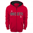 "Houston Rockets Youth NBA Adidas ""Stated"" Full Zip Hooded Sweatshirt"
