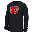 Calgary Flames Reebok NHL Jersey Crest Long Sleeve Men's T-Shirt