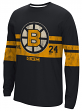 "Boston Bruins NHL Distressed ""CCM"" Long Sleeve Crew Men's Shirt"