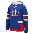 "New York Americans Men's NHL CCM ""Lace Em Up"" Pullover Hooded Sweatshirt - Blue"