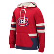 """Montreal Canadiens Men's NHL CCM """"Lace Em Up"""" Pullover Hooded Sweatshirt - Red"""