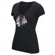 "Chicago Blackhawks Women's NHL Reebok ""Ice Shatter"" Scoop Neck Shirt"