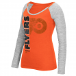 "Philadelphia Flyers Women's NHL Reebok ""Vertical Texture"" Long Sleeve Slub Shirt"