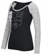 "Los Angeles Kings Women's NHL Reebok ""Vertical Texture"" Long Sleeve Slub Shirt"