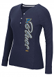 "St. Louis Blues Women's NHL CCM ""Verticality"" Long Sleeve Henley Shirt"