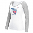 "New York Rangers Women's NHL CCM ""Her Retro Logo"" Long Sleeve Slub Shirt"