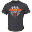 "Chicago Bears Majestic NFL ""Reflective 2"" Short Sleeve Men's Charcoal T-Shirt"