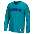 Charlotte Hornets Adidas 2015 NBA Men's On-Court Authentic L/S Shooting Shirt