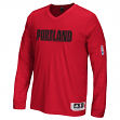 Portland Trail Blazers Adidas 2015 NBA On-Court Authentic L/S Shooting Shirt