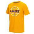 """Los Angeles Lakers Adidas """"New Ball"""" On-Court Climalite Performance S/S T-Shirt"""