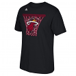"Miami Heat Adidas NBA ""Net Web"" Men's Short Sleeve T-Shirt"