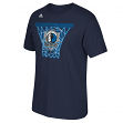 "Dallas Mavericks Adidas NBA ""Net Web"" Men's Short Sleeve T-Shirt"