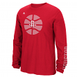 "Houston Rockets Adidas NBA ""Cager"" Men's Long Sleeve T-Shirt"