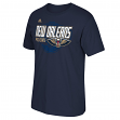 New Orleans Pelicans Adidas NBA Distressed Back Logo Men's Short Sleeve T-Shirt
