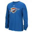 "Oklahoma City Thunder Adidas NBA ""Preferred Logo"" Men's Long Sleeve T-Shirt"