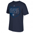 "Memphis Grizzlies Adidas NBA ""Play Through"" Men's Short Sleeve T-Shirt"