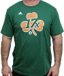 "Boston Celtics Adidas NBA ""17X Parquet Clover"" Men's Short Sleeve T-Shirt"