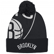"Brooklyn Nets Adidas NBA ""Team Nation""Cuffed Knit Hat with Pom"