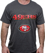 "San Francisco 49ers Majestic NFL ""Reflective 2"" S/S Men's Charcoal T-Shirt"