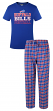 "Buffalo Bills NFL ""Medalist"" Men's T-shirt & Flannel Pajama Pants Sleep Set"