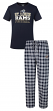"St. Louis Rams NFL ""Medalist"" Men's T-shirt & Flannel Pajama Pants Sleep Set"