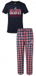 "Atlanta Braves MLB ""Medalist"" Men's T-shirt & Flannel Pajama Pants Sleep Set"