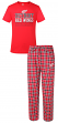"Detroit Red Wings NHL ""Medalist"" Men's T-shirt & Flannel Pajama Pants Sleep Set"