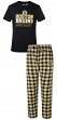 "Boston Bruins NHL ""Medalist"" Men's T-shirt & Flannel Pajama Pants Sleep Set"