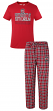 South Carolina Gamecocks NCAA Medalist Men's T-shirt & Flannel Pajama Sleep Set