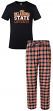 "Oklahoma State Cowboys NCAA ""Medalist"" Men's T-shirt & Flannel Pajama Sleep Set"