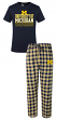 "Michigan Wolverines NCAA ""Medalist"" Men's T-shirt & Flannel Pajama Sleep Set"