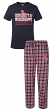 "Mississippi Ole Miss Rebels ""Medalist"" Men's T-shirt & Flannel Pajama Sleep Set"