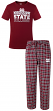 "Mississippi State Bulldogs ""Medalist"" Men's T-shirt & Flannel Pajama Sleep Set"