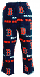 "Boston Red Sox MLB ""Facade"" Men's Micro Fleece Pajama Pants"