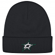 Dallas Stars Reebok NHL Basics Cuffed Knit Hat - Black