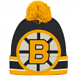 "Boston Bruins CCM NHL ""Split Logo"" Cuffed Knit Hat with Pom"