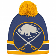 "Buffalo Sabres CCM NHL ""Split Logo"" Cuffed Knit Hat with Pom"