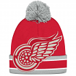 "Detroit Red Wings CCM NHL ""Split Logo"" Cuffed Knit Hat with Pom"