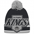 "Los Angeles Kings CCM NHL ""Split Logo"" Cuffed Knit Hat with Pom"