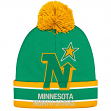 "Minnesota North Stars CCM NHL ""Split Logo"" Cuffed Knit Hat with Pom"