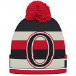 "Ottawa Senators CCM NHL ""Split Logo"" Cuffed Knit Hat with Pom"